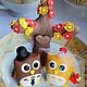 Свадебные аксессуары ручной работы. Фигурки на свадебный торт Совы. Виктория Якушева (woowoo-shop). Ярмарка Мастеров. годовщина свадьбы