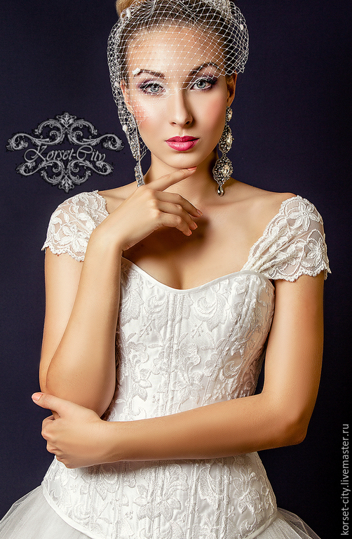 4826001dc0ad Утягивающий корсет «Белая лилия» с лямками кружевной свадебный. Елена ...