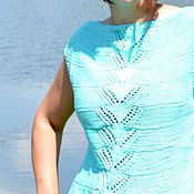 Одежда handmade. Livemaster - original item Summer top in cotton knitted tops. Handmade.