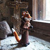Куклы и игрушки handmade. Livemaster - original item Felted toy The Monk Fox. Handmade.