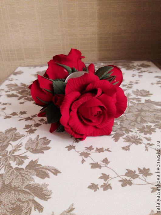Заколки ручной работы. Ярмарка Мастеров - ручная работа. Купить Розы ( заколка-краб из полимерной глины). Handmade.