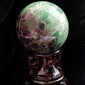Фен-шуй и эзотерика ручной работы. Ярмарка Мастеров - ручная работа Шар из флюорита 51 мм. Handmade.
