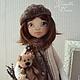 Коллекционные куклы ручной работы. Ярмарка Мастеров - ручная работа. Купить УЛЬЯНА. Handmade. Коричневый, бохо стиль, авторская кукла