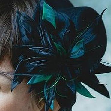 """Цветы и флористика ручной работы. Ярмарка Мастеров - ручная работа Шляпка """"Перья павлина"""". Handmade."""