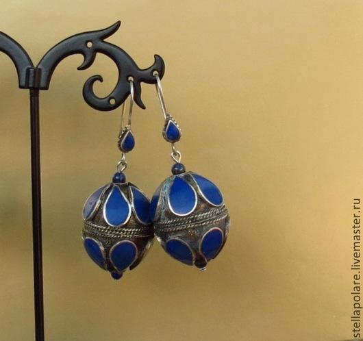 """Серьги ручной работы. Ярмарка Мастеров - ручная работа. Купить Серьги """"Азуль"""", этническое украшение, восточный стиль. Handmade. этно"""