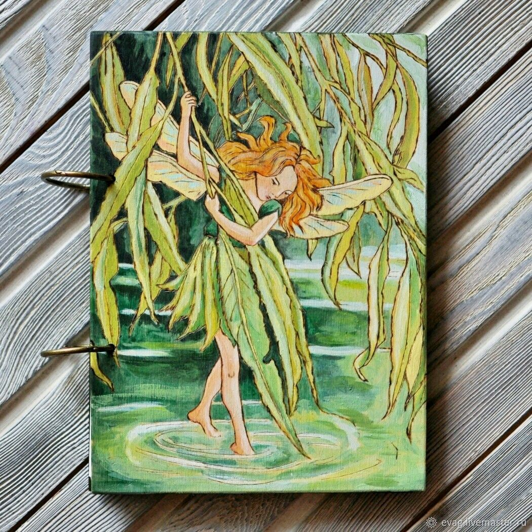 """Notepad wood cover A5 """"Tinker Bell"""", Notebooks, Moscow,  Фото №1"""