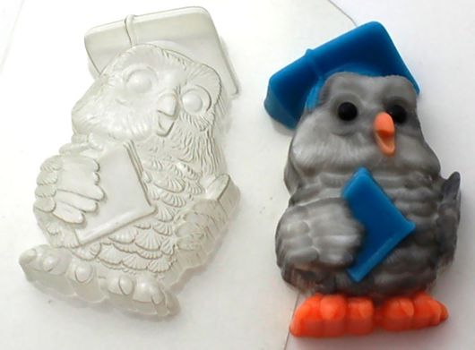 `Сова мудрая` форма для мыла пластиковая