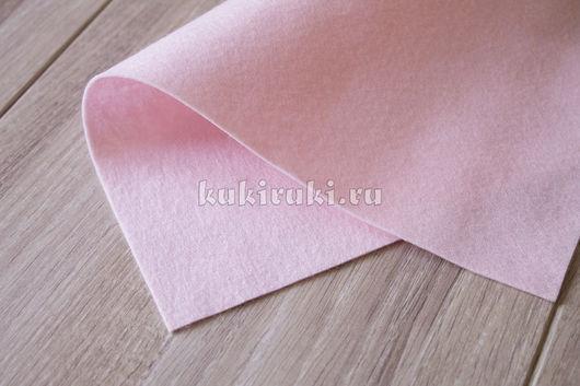 Валяние ручной работы. Ярмарка Мастеров - ручная работа. Купить Бледно-розовый мягкий корейский фетр. Handmade. Фетр