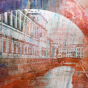 Картины и панно handmade. Livemaster - original item watercolor Rainy Peter. Handmade.