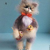 Куклы и игрушки handmade. Livemaster - original item cat malinkin 20 cm interior soft knitted toy designer cat. Handmade.