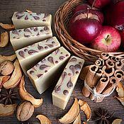 Косметика ручной работы handmade. Livemaster - original item Natural soap from scratch APPLE AND CINNAMON. Handmade.