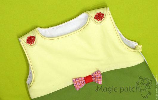 """Для новорожденных, ручной работы. Ярмарка Мастеров - ручная работа. Купить Спальный мешок для малыша """"Слоник"""". Handmade. Тёмно-зелёный"""