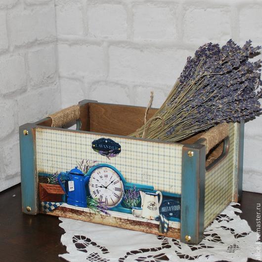 Корзины, коробы ручной работы. Ярмарка Мастеров - ручная работа. Купить Короб для кухни. Handmade. Бирюзовый, коробка для мелочей, чайник