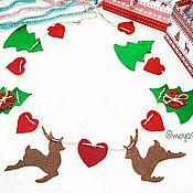 Подарки к праздникам handmade. Livemaster - original item Christmas garland,Christmas tree ornament, Christmas decorations. Handmade.