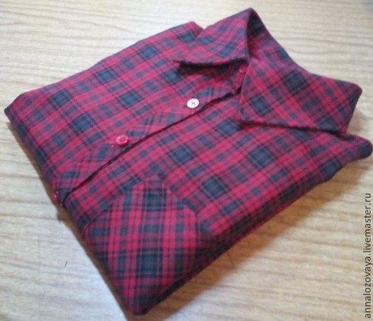 Блузки ручной работы. Ярмарка Мастеров - ручная работа. Купить Рубашка в клетку. Handmade. Разноцветный, рубашка на заказ, Блуза летняя