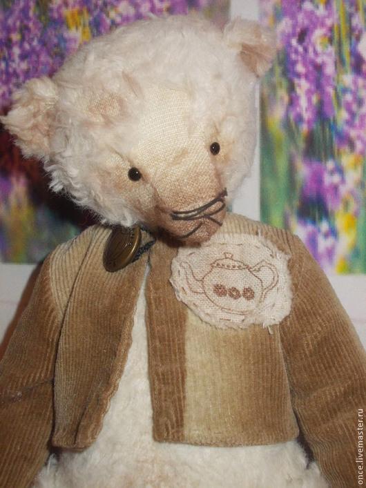 Мишки Тедди ручной работы. Ярмарка Мастеров - ручная работа. Купить Ray. Handmade. Белый, подарок, опилки древесные