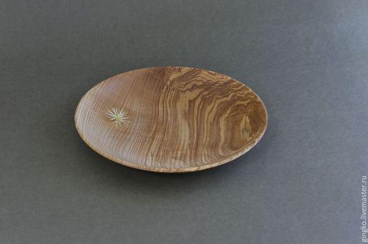 Тарелки ручной работы. Ярмарка Мастеров - ручная работа. Купить Тарелка из дерева. Оливковый ясень.. Handmade. Оливковый, салатник