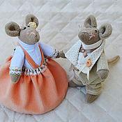 Куклы и игрушки ручной работы. Ярмарка Мастеров - ручная работа Свадебные Мышки Тильда Шерон и Кен. Handmade.