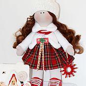 Куклы и игрушки ручной работы. Ярмарка Мастеров - ручная работа Зимняя девочка Аннушка. Handmade.