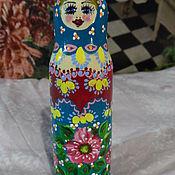 Русский стиль handmade. Livemaster - original item The nested doll is wooden painted, a toy, a souvenir. Handmade.