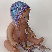 Работы для детей, ручной работы. Ярмарка Мастеров - ручная работа Фиолетовые шапочки для фотосессий новорожденных. Handmade.