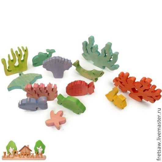 Игрушки животные, ручной работы. Ярмарка Мастеров - ручная работа. Купить Жители подводного мира. набор деревянных фигурок. Handmade.