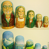 Подарки к праздникам ручной работы. Ярмарка Мастеров - ручная работа Матрешка портретная. Handmade.