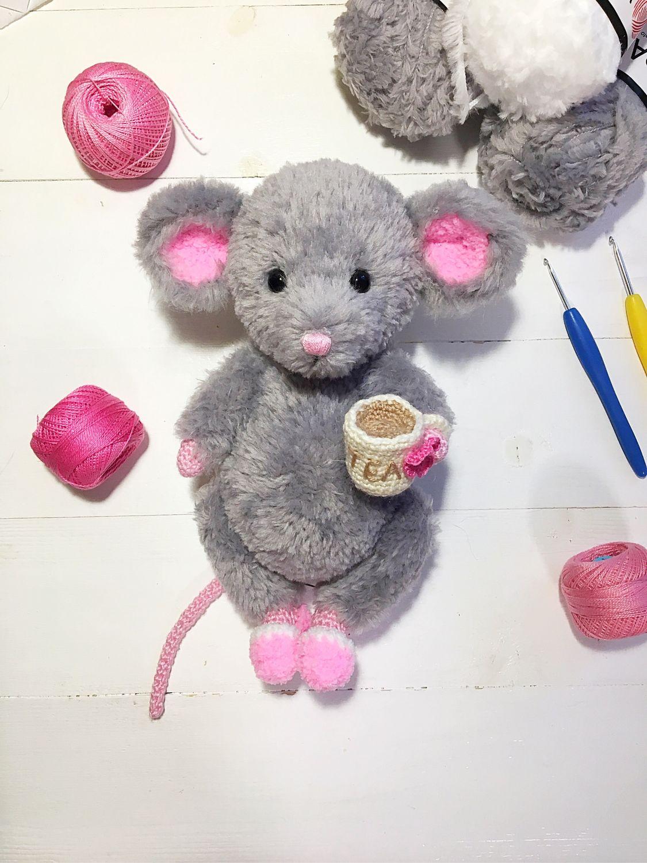 мк мышки вязаная мышка крючком мастер класс мышка купить в