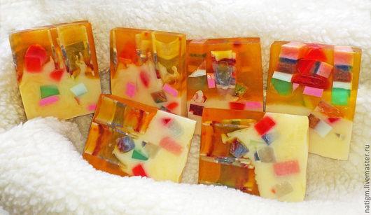 """Мыло ручной работы. Ярмарка Мастеров - ручная работа. Купить Мыло """"Калейдоскоп"""". Handmade. Разноцветное мыло, синий, эфирные масла"""