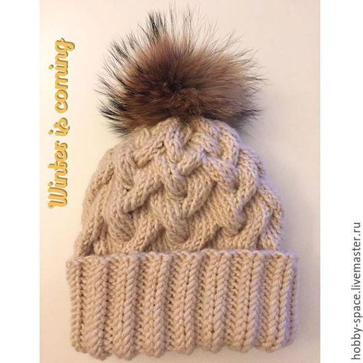 Шапки ручной работы. Ярмарка Мастеров - ручная работа. Купить Теплая шапка с отворотом. Handmade. Шапка с отворотом, теплая шапка