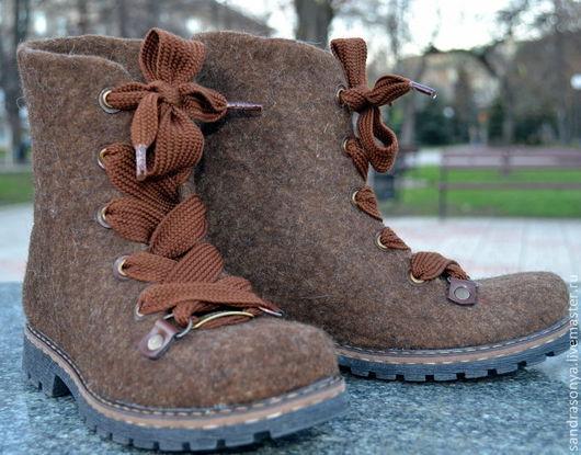 """Обувь ручной работы. Ярмарка Мастеров - ручная работа. Купить Ботинки валяные женские """"Мечта"""". Handmade. Ботинки, валяная обувь"""