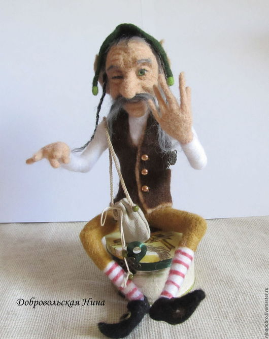Коллекционные куклы ручной работы. Ярмарка Мастеров - ручная работа. Купить Коллекционная кукла. Хитрый Лепрекон. Handmade. Лепрекон, гном