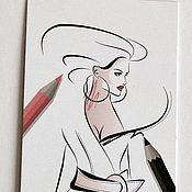 Материалы для творчества ручной работы. Ярмарка Мастеров - ручная работа Бирки FASHION картонные для изделий. Handmade.