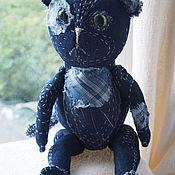 Куклы и игрушки ручной работы. Ярмарка Мастеров - ручная работа джинсовый котик. Handmade.