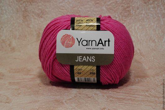 Вязание ручной работы. Ярмарка Мастеров - ручная работа. Купить YarnArt jeans. Handmade. Комбинированный, джинс, хлопок 55