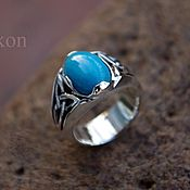 Украшения handmade. Livemaster - original item Ring with turquoise and triquetrum.. Handmade.