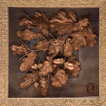 """Картины и панно ручной работы. Ярмарка Мастеров - ручная работа Дерево долголетия от """"VivantArt"""" зеленое золото. Handmade."""