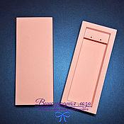 Сувениры и подарки ручной работы. Ярмарка Мастеров - ручная работа Коробка-пенал матово-розовая для длинных серег. Handmade.