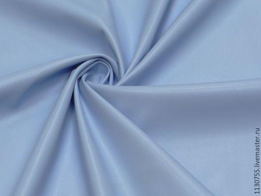 Шитье ручной работы. Ярмарка Мастеров - ручная работа. Купить ткань кожа  искусственная стрейч голубая  , шир.150. Handmade.