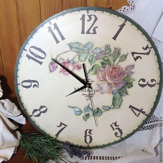 Часы для дома ручной работы. Ярмарка Мастеров - ручная работа. Купить Часы настенные Nostalgie Винтаж. Handmade. Бежевый, прованс