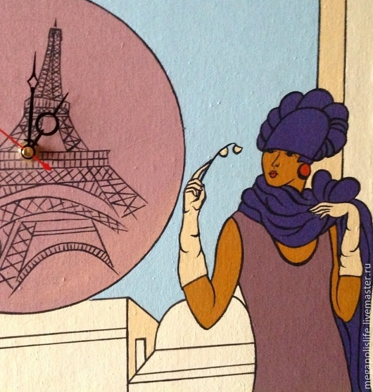 """Часы для дома ручной работы. Ярмарка Мастеров - ручная работа. Купить Часы настенные""""France"""". Handmade. Часы настенные, часы для дома"""