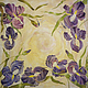 Scarf batik silk with irises 'Vanilla sky', Shawls1, St. Petersburg,  Фото №1