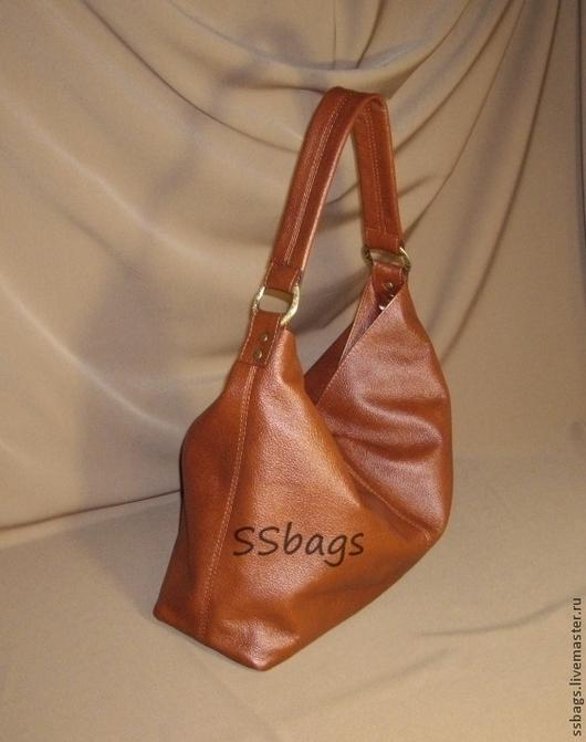 Женские сумки ручной работы. Ярмарка Мастеров - ручная работа. Купить Сумка-мешок коричневая, мягкая, женская.Купить кожаную сумку.. Handmade.