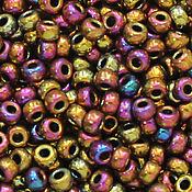 Бисер ручной работы. Ярмарка Мастеров - ручная работа Круглый 11/0 Miyuki 188 Met Purple Gold Iris японский бисер Миюки. Handmade.