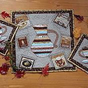 """Для дома и интерьера ручной работы. Ярмарка Мастеров - ручная работа Кухонный набор """"Кофе с молоком"""". Handmade."""