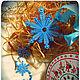 """Новый год 2017 ручной работы. Ярмарка Мастеров - ручная работа. Купить Новогодняя гирлянда-подвеска вертикальная """"Новогодний снегопад"""". Handmade."""