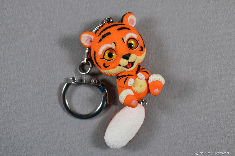 Брелок Тигр из полимерной глины