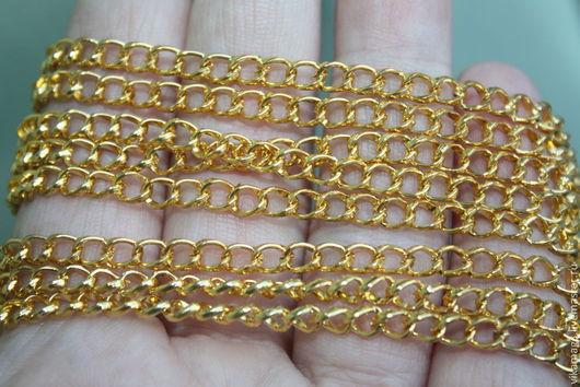 Для украшений ручной работы. Ярмарка Мастеров - ручная работа. Купить Цепочка под золото, за 10 см. Handmade.