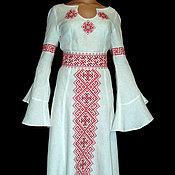 Славянское платье вышивка