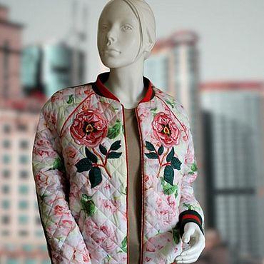 Одежда ручной работы. Ярмарка Мастеров - ручная работа Куртка-бомбер в стиле GUCCI с тигром. Handmade.